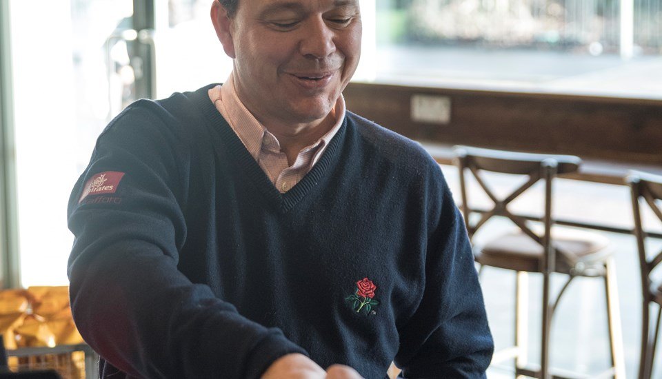 Warren Hegg, former Lancashire and England Wicket Keeper and current Head of Cricket Business at Lancashire Cricket Club enjoys his first Caffe Nero coffee.jpg