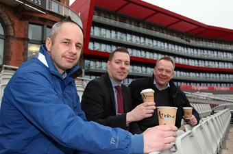 Gareth Taylor, Head of Hospitality and Events at Emirates Old Trafford (c), with Aroma Business Managers.jpg