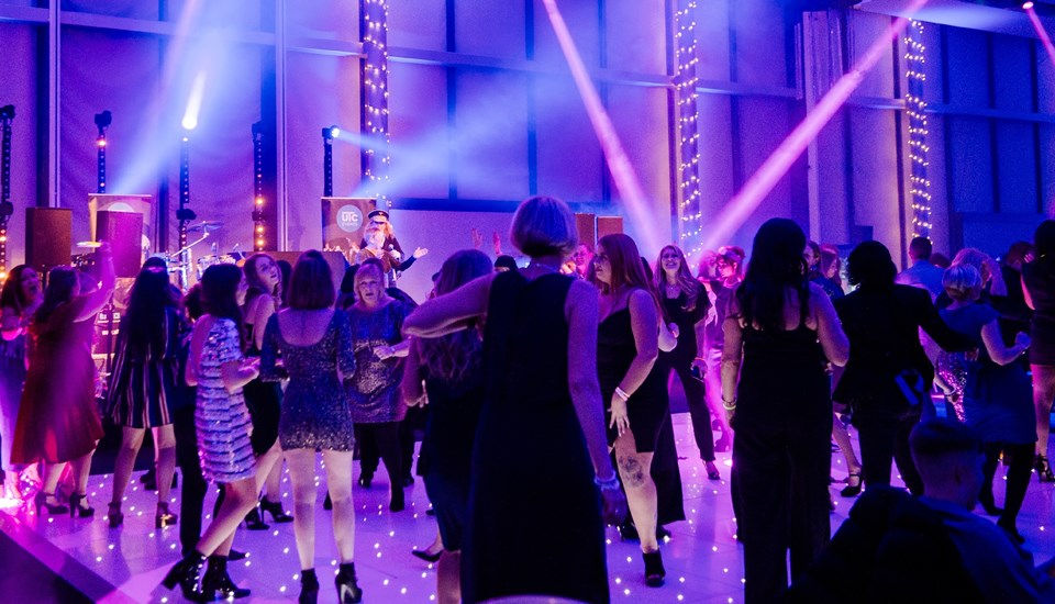 Emirates Old Trafford Works Finished Christmas Party 2018, Dancefloor1.jpg