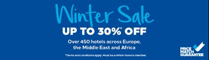 Hilton Garden Inn Winter Sale