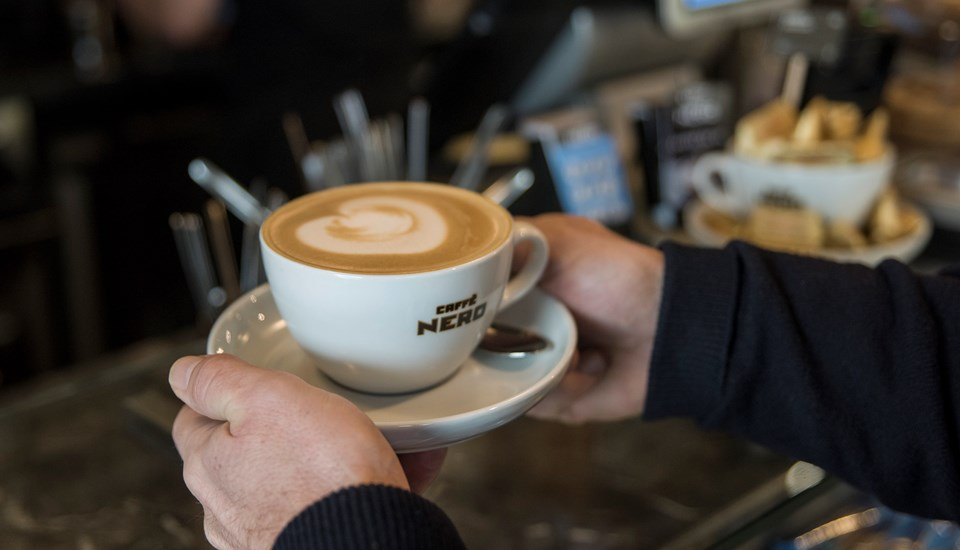 Warren Hegg's Emirates Old Trafford Caffe Nero coffee.jpg