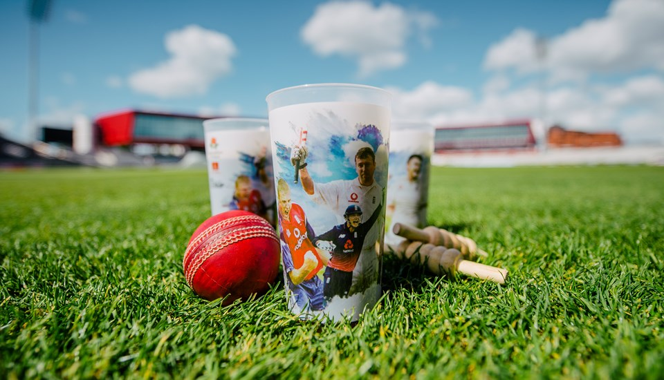 Lancashire Cricket Club reusable cup, Emirates Old Trafford.jpg