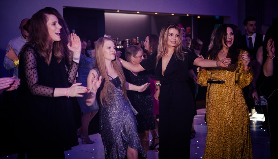Emirates Old Trafford Works Finished Christmas Party 2018, Dancefloor.jpg