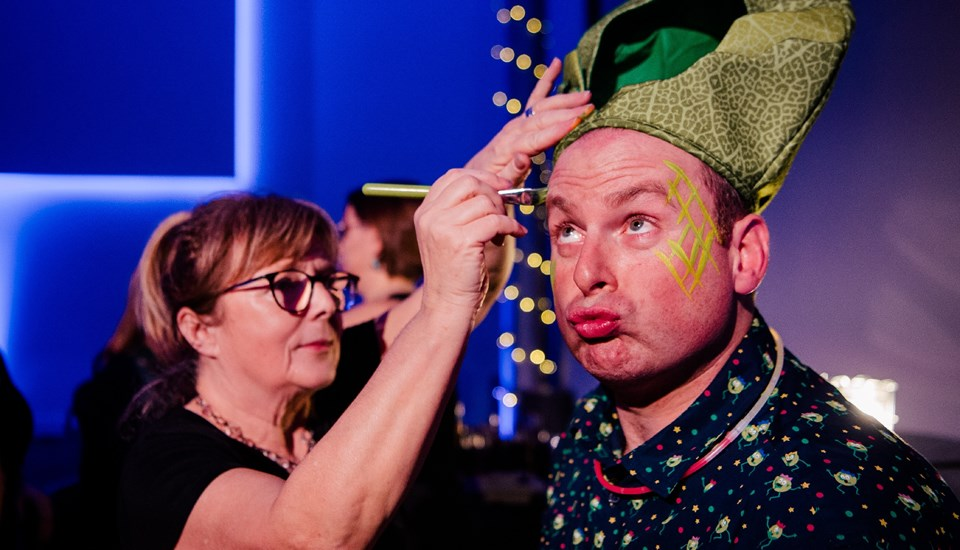 Emirates Old Trafford Works Finished Christmas Party 2018, Face Painting.jpg