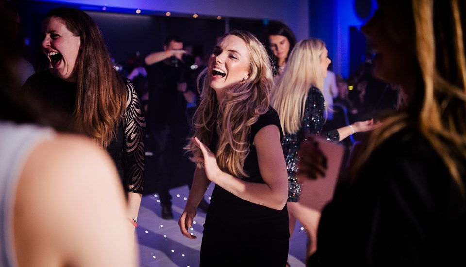 Emirates Old Trafford Works Finished Christmas Party 2018, Laughter.jpg